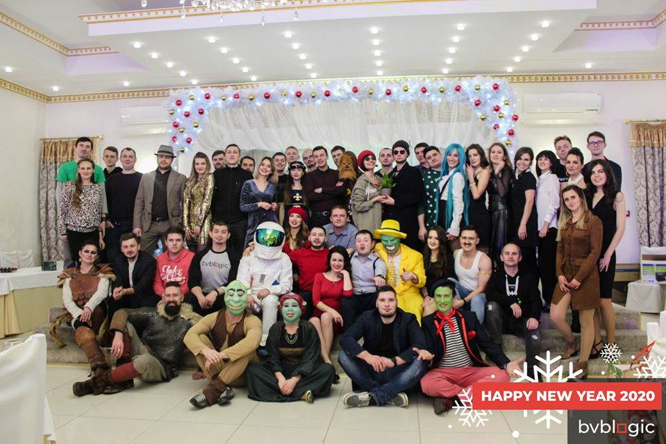 "The bvblogic team at the ""Once upon a time in bvblogic"" corporate New Year's Eve"