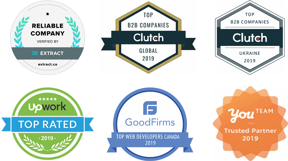 The awards and distinctions that bvblogic received in 2019 and 2020.